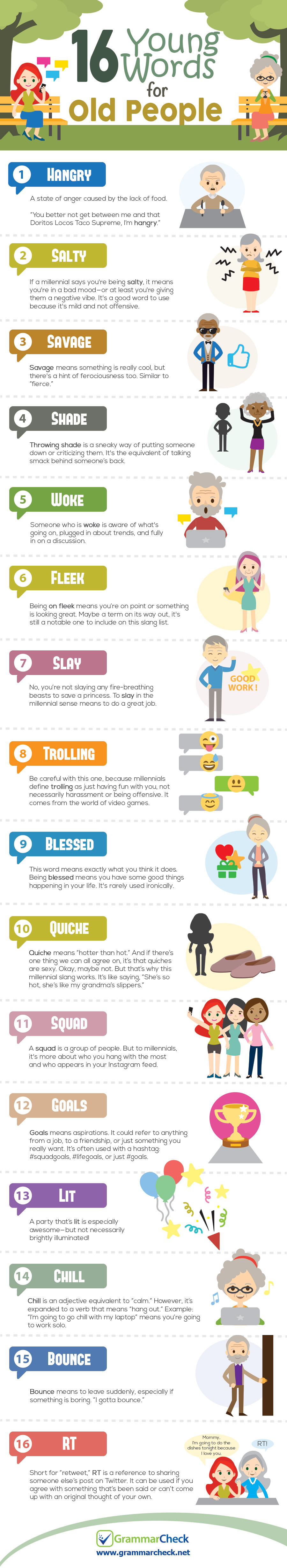 16 Young Words for Old People (Infographic)