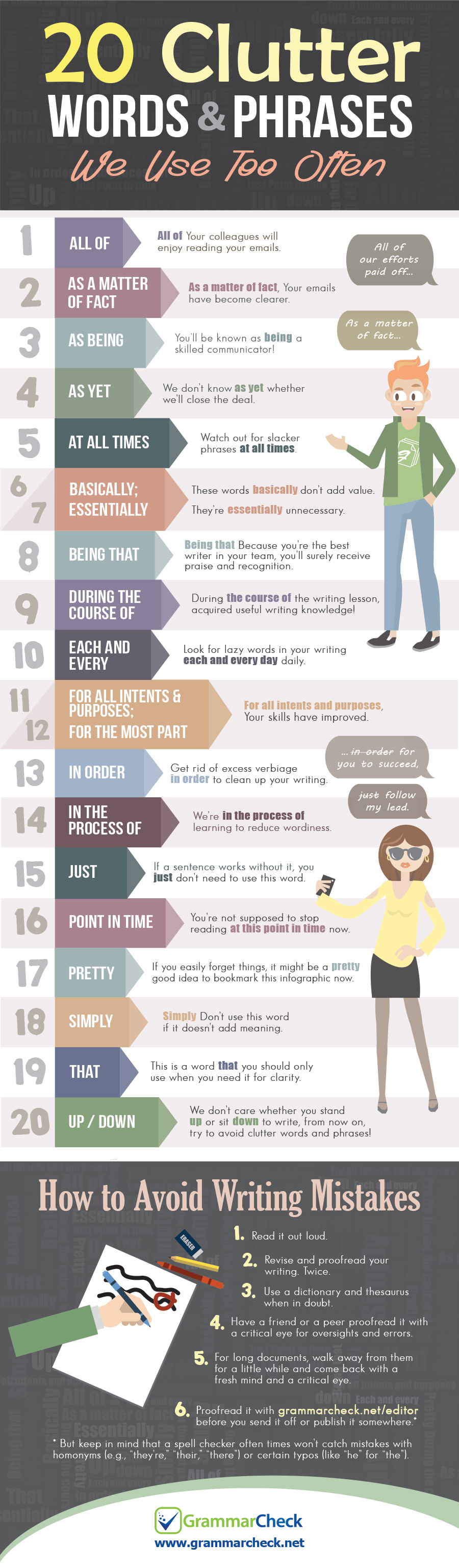 20 Clutter Words & Phrases to Avoid (Infographic)