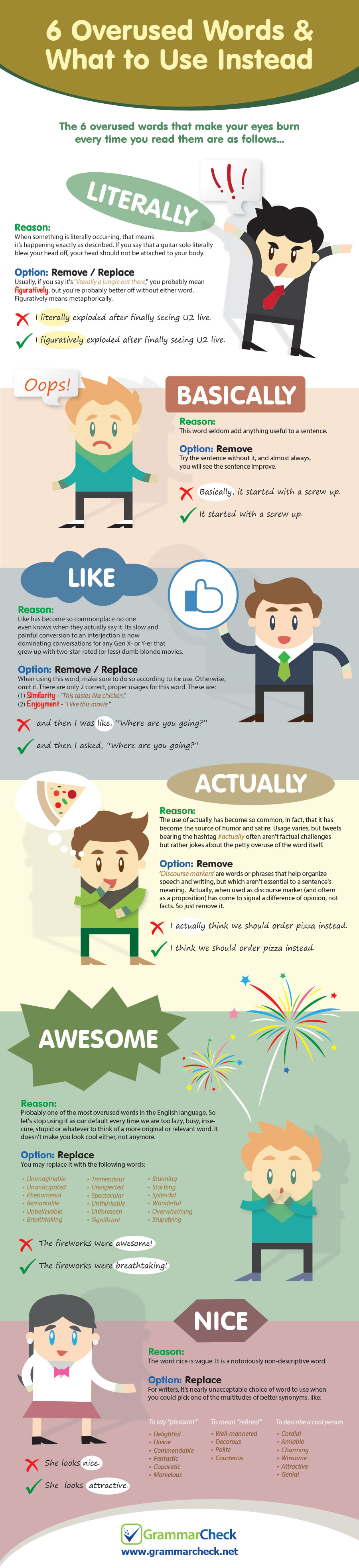 6 Overused Words & What to Use Instead (Infographic)