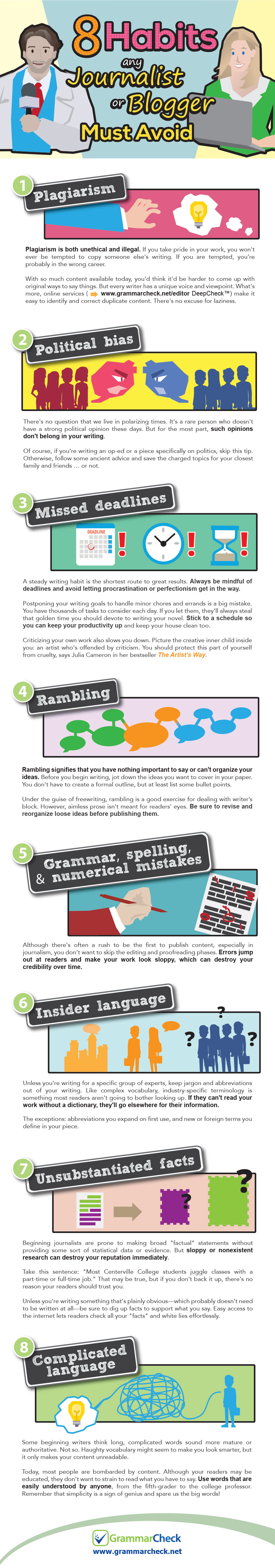 8 Habits Any Journalist or Blogger Must Avoid (Infographic)