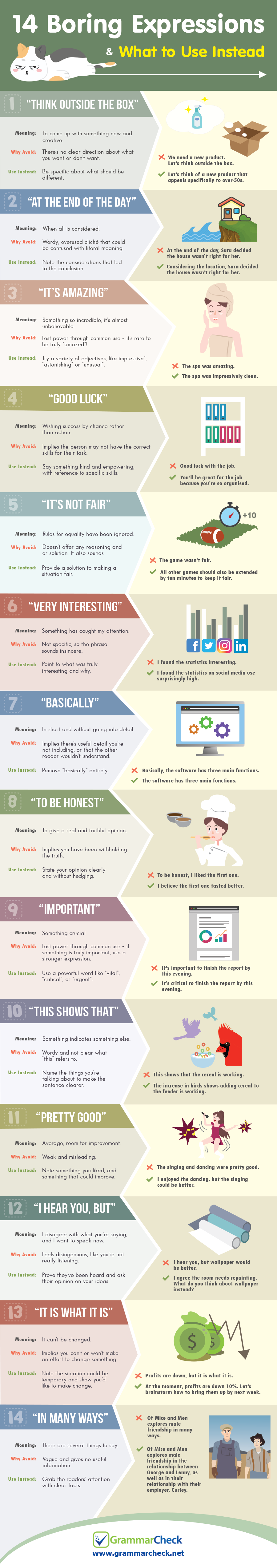 14 Boring Expressions & What to Use Instead (Infographic)