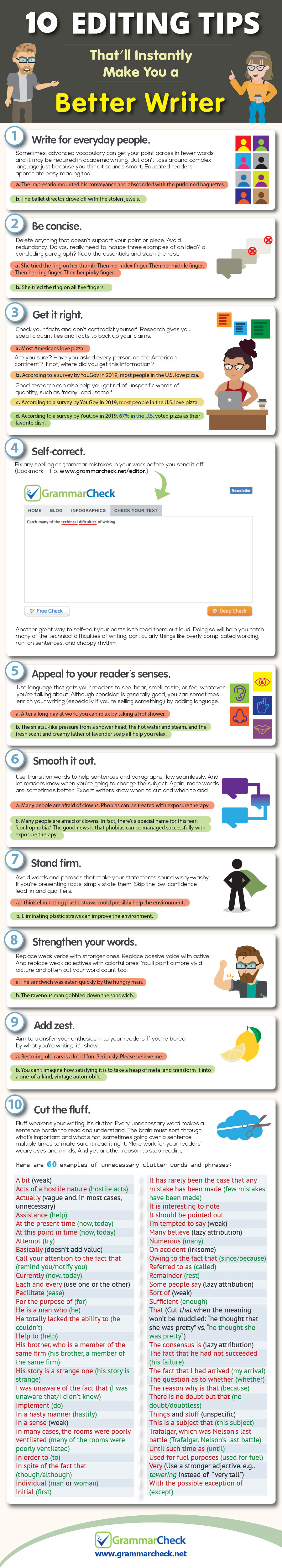 10 Editing Tips That'll Instantly Make You a Better Writer (Infographic)