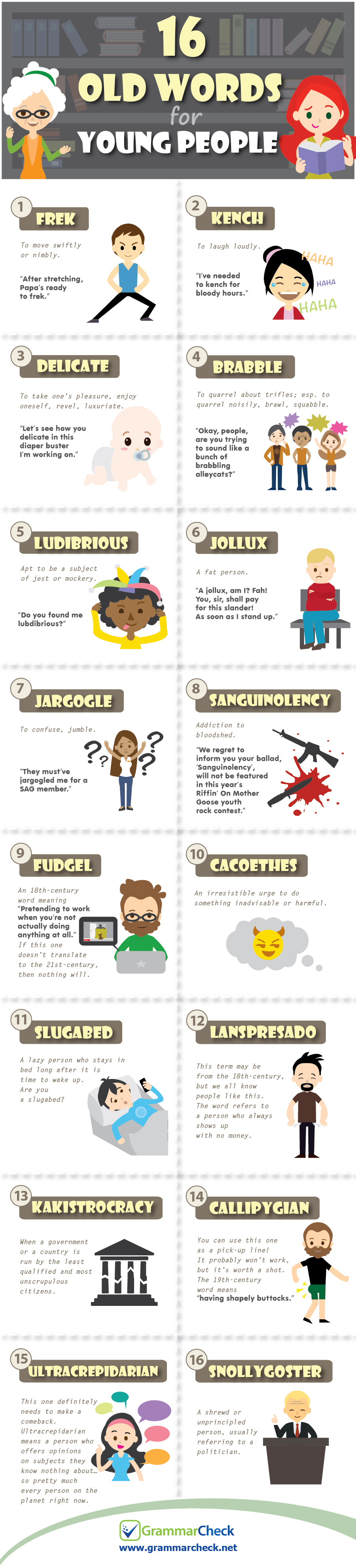 16 Old Words for Young People (Infographic)