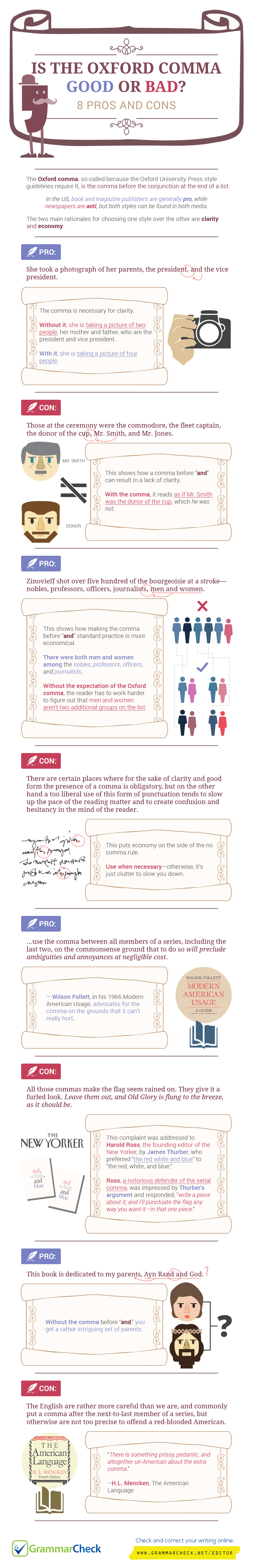 Oxford Comma Good or Bad? 8 Pros and Cons (Infographic)