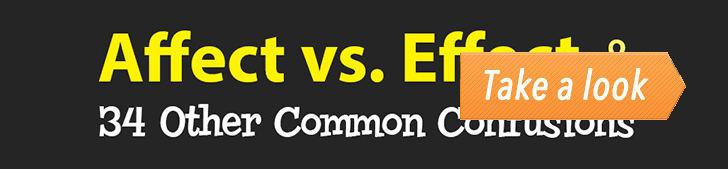 Affect vs. Effect & 34 Other Common Confusions (Infographic) post image