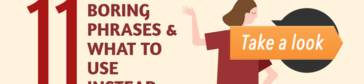 11 Boring Phrases & What to Use Instead (Infographic) post image