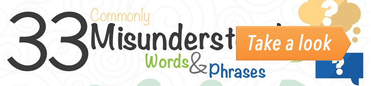33 Commonly Misunderstood Words & Phrases (Infographic) post image