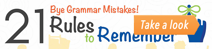 Bye Grammar Mistakes! 21 Rules to Remember (Infographic) post image