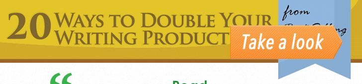 20 Ways to Double Your Writing Productivity (Infographic) post image
