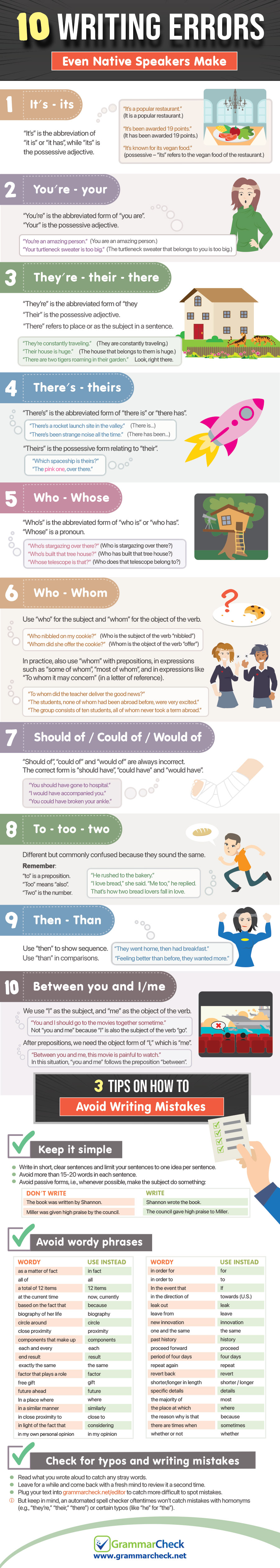 10 Writing Errors Even Native Speakers Make (Infographic)
